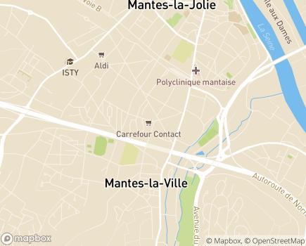 Localisation Centre Communal d'Action Sociale - 78711 - Mantes-la-Ville