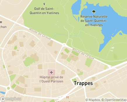 Localisation Externat Médico-Professionnel La Plaine du Moulin Association IES - 78190 - Trappes