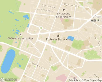 Localisation Conseil départemental des Yvelines - 78012 - Versailles