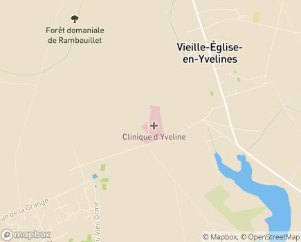 Localisation Clinique d'Yveline - 78125 - Vieille-Église-en-Yvelines