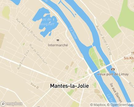 Localisation MSA - Bureau départemental des Yvelines - 78200 - Mantes-la-Jolie