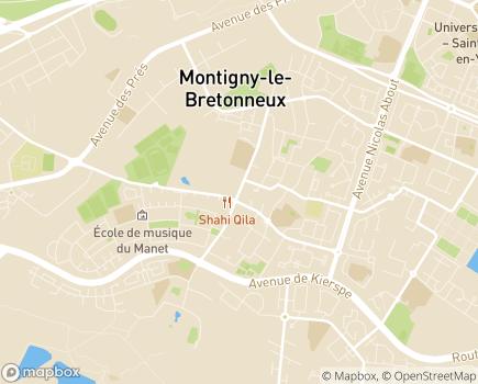 Localisation Communauté d'Agglomération de Saint-Quentin-en-Yvelines - 78192 - Trappes