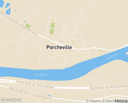 Localisation Centre Communal d'Action Sociale - 78440 - Porcheville