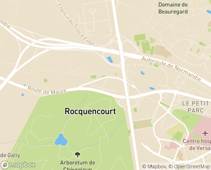 Localisation EHPAD Résidence Les Lys - 78150 - Le Chesnay-Rocquencourt