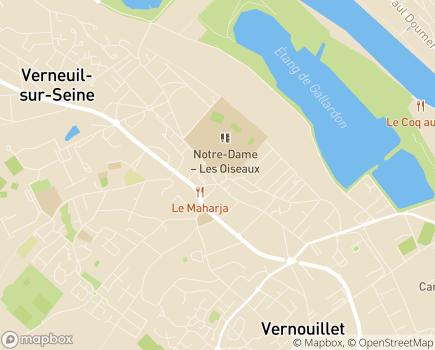 Localisation Centre Communal d'Action Sociale - 78480 - Verneuil-sur-Seine