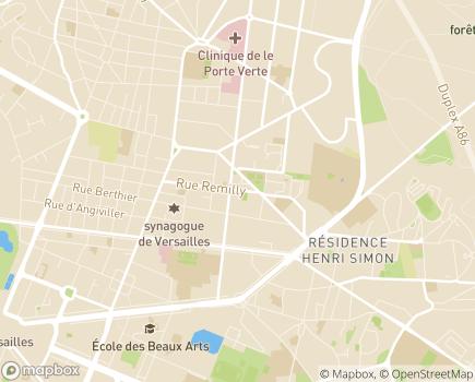 Localisation Secteur d'action sociale de Versailles - 78000 - Versailles