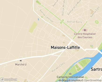 Localisation Les Jardins d'Arcadie Maisons-Laffitte - 78600 - Maisons-Laffitte