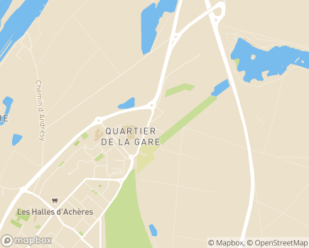 Localisation Institut de Réadaptation d'Achères LNA Santé - 78260 - Achères