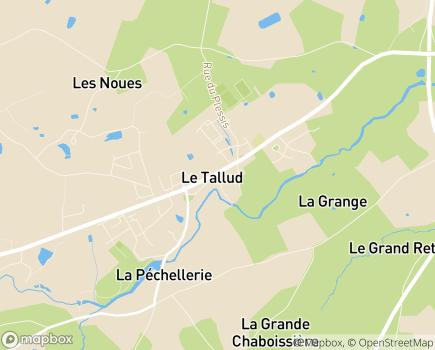 Localisation Centre Communal d'Action Sociale - 79200 - Le Tallud