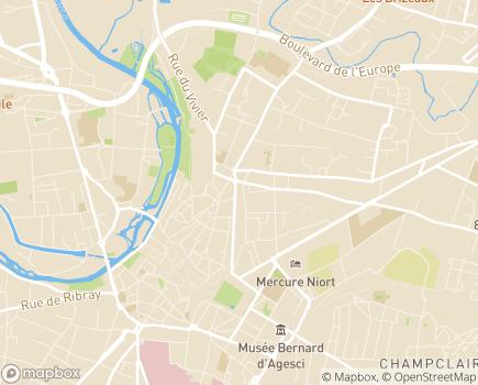 Localisation Pôles des Solidarités - 79028 - Niort
