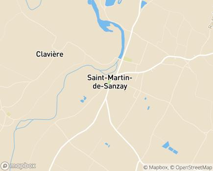 Localisation Centre Communal d'Action Sociale - 79290 - Saint-Martin-de-Sanzay