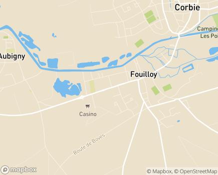 Localisation EHPAD Résidence Hippolyte Noiret - 80800 - Fouilloy