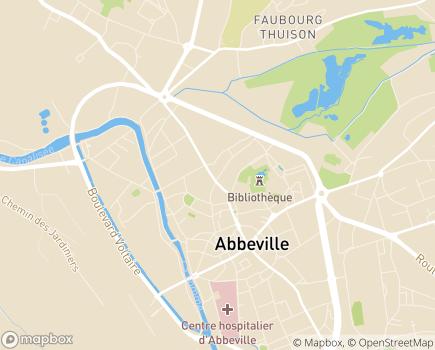 Localisation L'Entraide Familiale Membre UNA - 80100 - Abbeville
