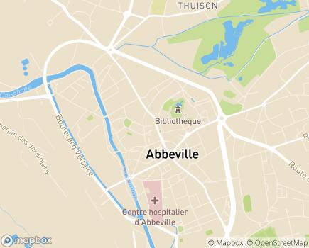 Localisation Aidom + - 80100 - Abbeville