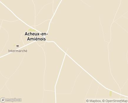 Localisation Maison d'Accueil et des Services - 80560 - Acheux-en-Amiénois