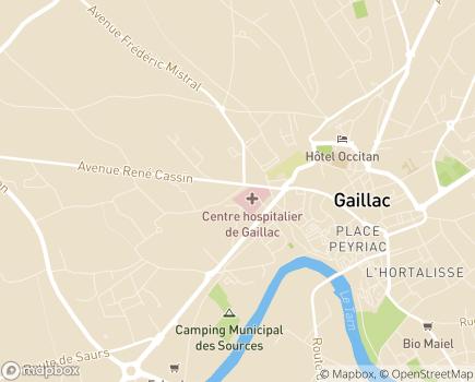Localisation MECS Lucie Aubrac - 81603 - Gaillac