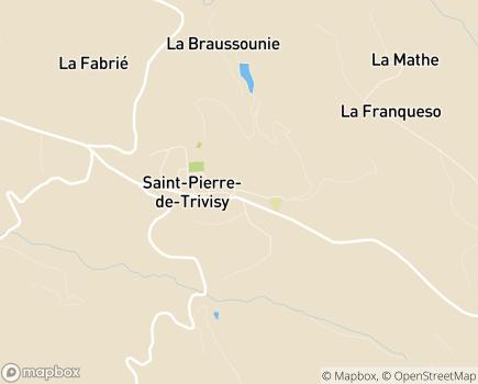 Localisation EHPAD Maison de Retraite Départementale - 81330 - Saint-Pierre-de-Trivisy