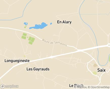 Localisation EHPAD Résidence Les Grands Chênes - 81710 - Saïx