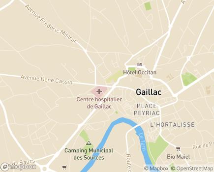 Localisation EHPAD Saint-Jean - Centre Hospitalier Gaillac - 81600 - Gaillac