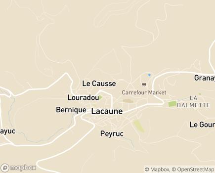 Localisation Service de Soins et d'Education Spécialisée à Domicile - 81230 - Lacaune