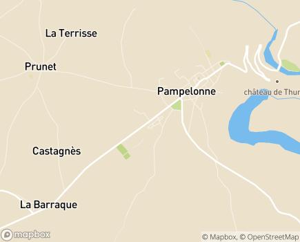 Localisation EHPAD de Pampelonne - 81190 - Pampelonne
