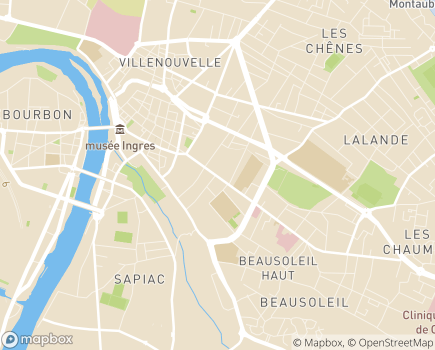 Localisation EHPAD Ange Gardien - 82000 - Montauban
