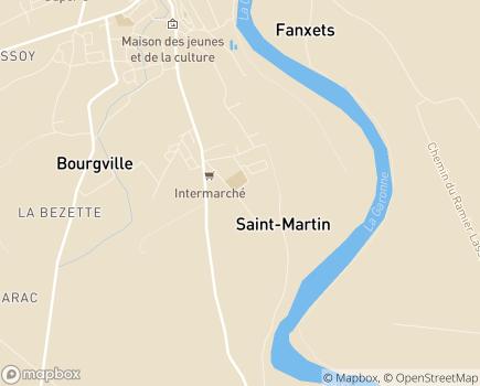 Localisation EHPAD Saint-Jacques - 82600 - Verdun-sur-Garonne
