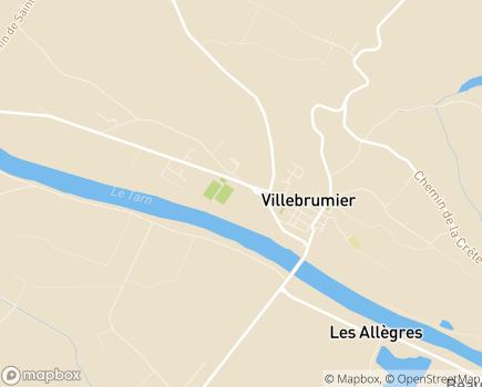 Localisation EHPAD Les Chênes Verts - 82370 - Villebrumier