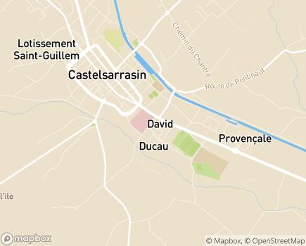Localisation EHPAD Centre Hospitalier Intercommunal Castelsarrasin Moissac - 82100 - Castelsarrasin