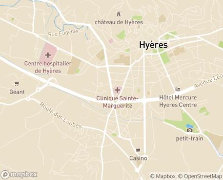 Localisation Hôpital Privé Toulon Hyères Sainte Marguerite - 83400 - Hyères