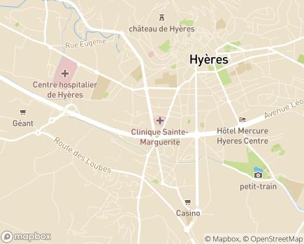 Localisation Hôpital Privé Toulon Hyères - 83400 - Hyères