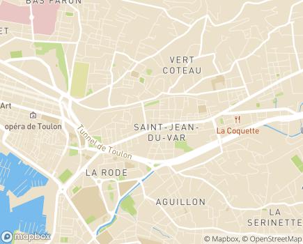 Localisation Hôpital Privé Toulon Hyères Saint Jean - 83000 - Toulon