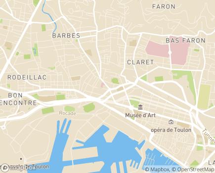 Localisation Hôpital Privé Toulon Hyères Saint Roch - 83000 - Toulon