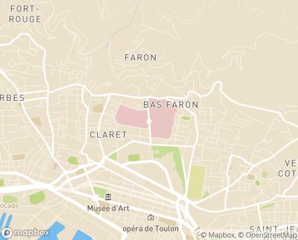Localisation Hôpital d'Instruction des Armées Sainte-Anne - 83800 - Toulon