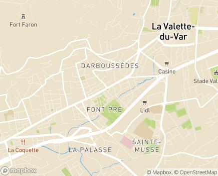 Localisation Age et Vie SSIAD - 83100 - Toulon