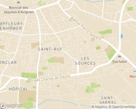 Localisation Foyer Les Sources - 84000 - Avignon