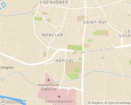 Localisation HADAR Association à Domicile d'Avignon et sa Région - 84083 - Avignon