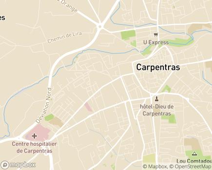 Localisation Korian - Clinique Mont Ventoux - 84200 - Carpentras
