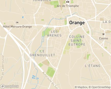 Localisation Résidence Raoul Rose - 84100 - Orange