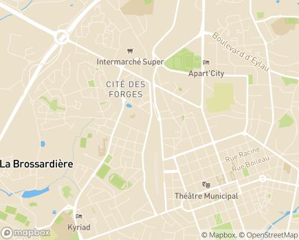Localisation ARS Agence Régionale de Santé Délégation Territoriale de la Vendée - 85000 - La Roche-sur-Yon