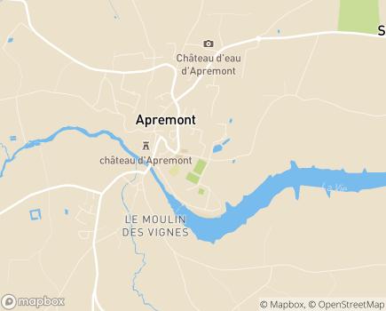 Localisation Korian Le Home du Verger - 85220 - Apremont