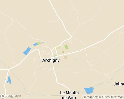 Localisation MARPA Le Bon Accueil - 86210 - Archigny