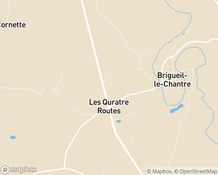 Localisation Korian Les Buddléias - 86290 - Brigueil-le-Chantre