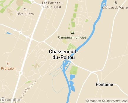 Localisation Korian Clairière aux Chênes - 86360 - Chasseneuil-du-Poitou