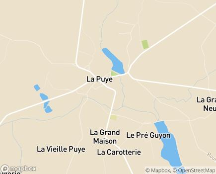 Localisation EHPAD Sainte-Elisabeth - 86260 - La Puye
