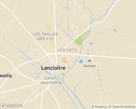 Localisation EHPAD Résidence du Pontreau Saint-Lucien - 86140 - Lencloître