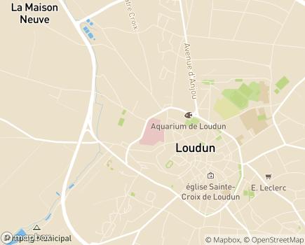Localisation EHPAD ARPAVIE Résidence Porte du Martray - 86200 - Loudun