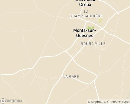 Localisation Colisée - Résidence Les Scévolles - 86420 - Monts-sur-Guesnes