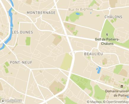 Localisation Direction Générale Adjointe des Solidarités DGAS - 86034 - Poitiers
