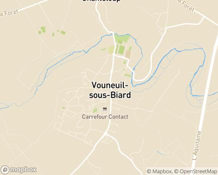 Localisation EHPAD Le Logis du Val de Boivre - 86580 - Vouneuil-sous-Biard